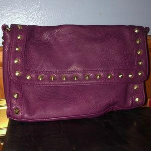 Purple studded purse